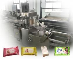 全自动伺服控制湿巾包装机